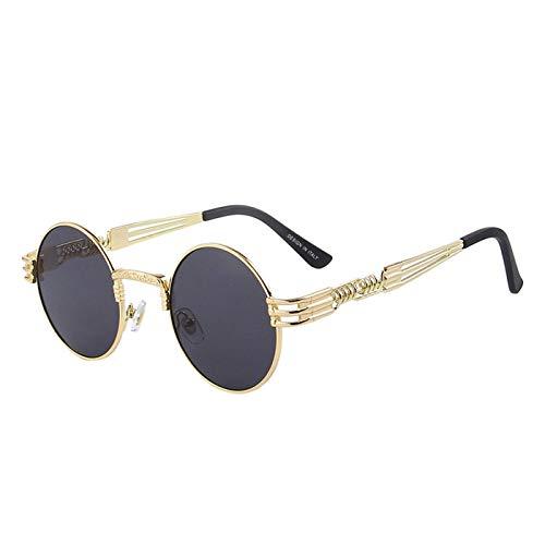 Gafas de sol deportivas, Las mujeres steampunk Gafas de sol de los hombres retro redondo gafas de sol de metal gafas de sol hombres oculos de sol UV400
