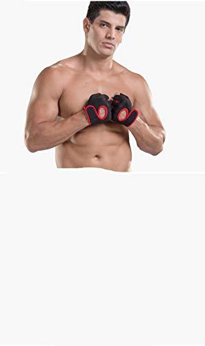YCJCGG Sport Fitness halfvingerhandschoenen mannelijk professionele trekstang horizontale antislip pull-ups anti-coconing oefening training dragen -M.