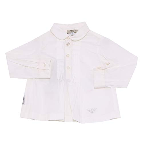0954Z Camicia Bimba Girl Armani Baby Cotton White Shirt [9 Months]