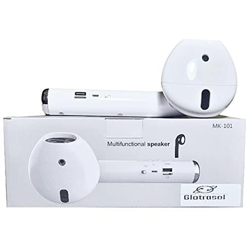 Glotrasol - Altavoz gigante inalámbrico Bluetooth 5.0 3D estéreo para fiestas, viajes, interior, exterior, regalo con micrófono integrado, cable TF AUX y ranura para tarjeta SD