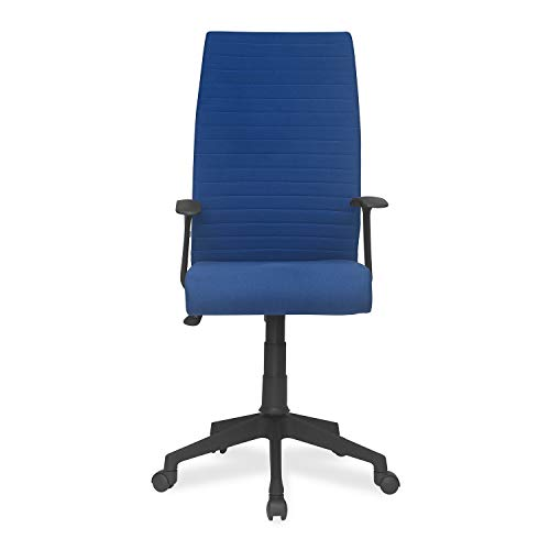 Nilkamal Thames High Back Fabric Chair (High Back, Blue)