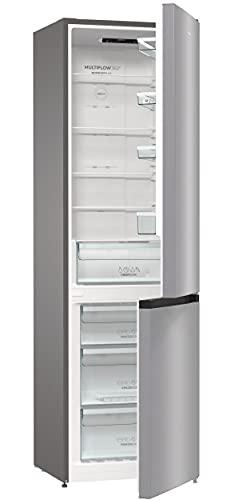 Gorenje NRK 6202 ES4 Kühl-Gefrierkombination / 200 cm / 331 l / No Frost Plus / Multi Airflow System / Silber / metallisch