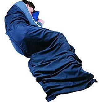 Trekmates Doublure de sac de couchage en polycoton Bleu
