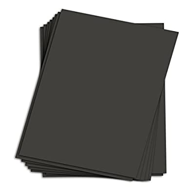 Black Chipboard - Cardboard Medium Weight Chipboard Sheets - 25 Per Pack.