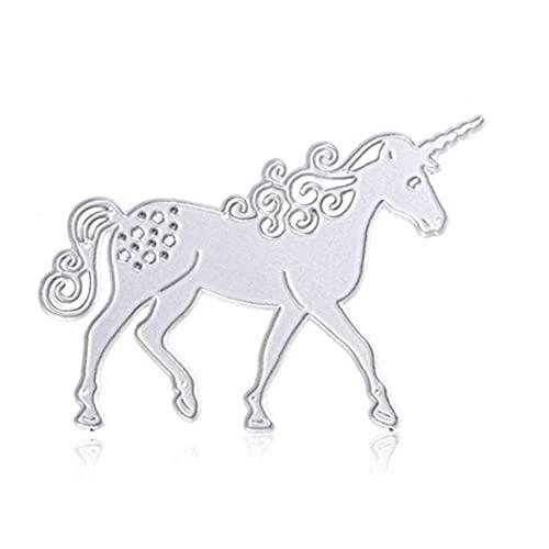 Ayrsjcl Unicornio Metal Metal Muere Plantillas De Estampado para Álbum De Scrapbook De DIY Tarjeta De Papel De Tarjeta De Acción De Gracias