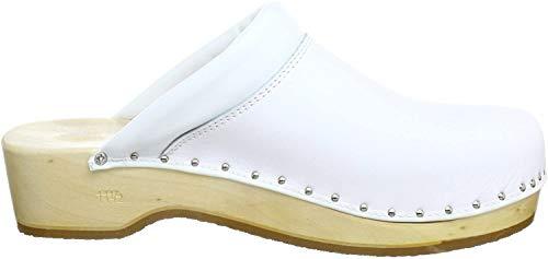Berkemann Unisex-Erwachsene Soft-Toeffler Clogs, Weiß (weiß 100), 42 EU