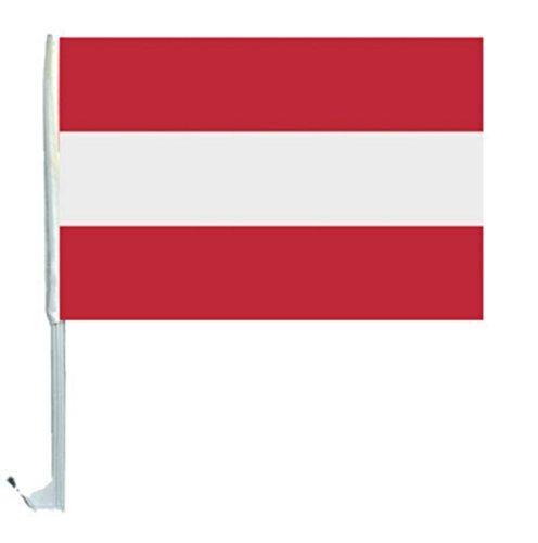 NFP 1 x Autofahne Autoflagge 45 x 30 Österreich Fahne Fahnen Flagge Flaggen EM 2016 mit Halterung