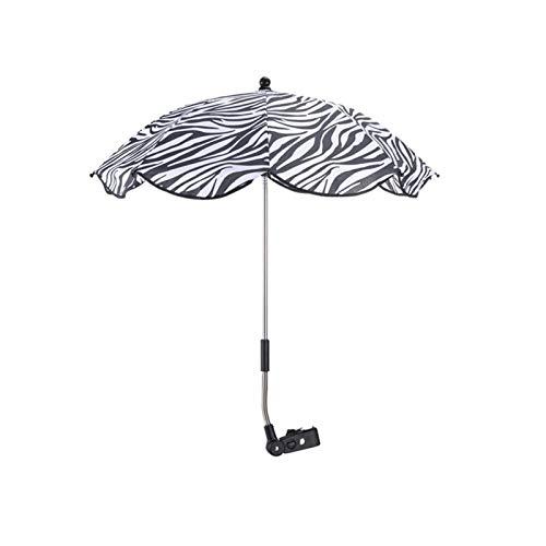 YXIUER Kinder Baby Sonnenschirm Sonnenschirm Sonnenschirm Buggy Kinderwagen Kinderwagen Schatten Canopy Covers Baby Kinderwagen Zubehör Sonnenschutz Regenschirm (Color : Zebra)