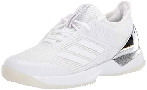 adidas Women's Adizero Ubersonic 3 Sneaker, FTWR White/FTWR White/Matte Silver, 10 M US