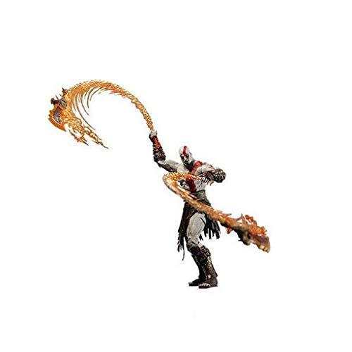 juguete Modelo de carácter de anime Ares 7 pulgadas Kratos Cuchillo Versión de incendios Modelo Modelo Modelo Estatua Regalo Souvenir Artesanía Decoración (18 cm) (Color: C) Modelo de juguete