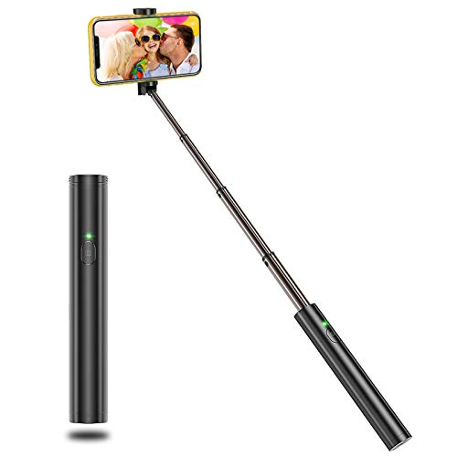 Vproof Selfie Stick Bluetooth, Lightweight Aluminum All in One Extendable Selfie Sticks Compact Design, Compatible with iPhone 11 Pro Max 11 Pro 11 XS Max, Galaxy S20, More