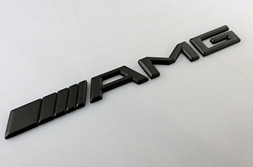 20x2.1 cm For AMG Emblem AMG Boot Badge for Benz C CL CLS CLK S SLK SLS E M G GL GLK Class 3D AMG Bonnet Badge (Black)