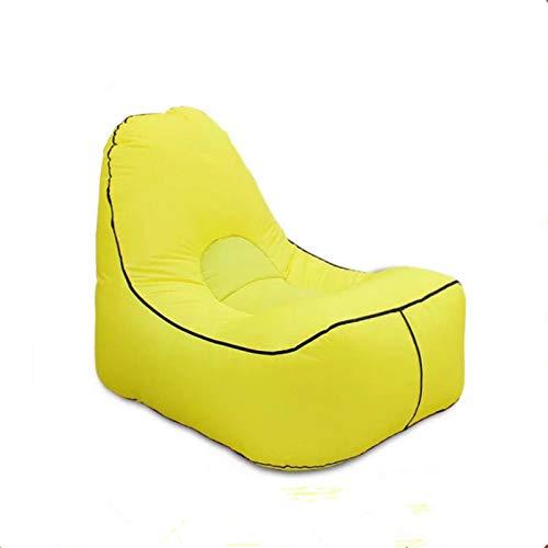zyr aufblasbares Sofa im Freien Strandkorb Wohnzimmer im Freien Lazy Chair Lounger Camping Wandern Angelstühle Gartensofa, 02