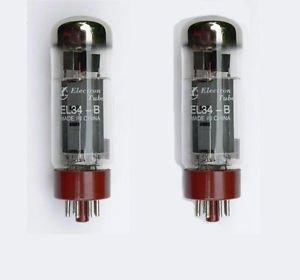 Jellyfish Audio EL34 EL34B Válvulas emparejadas par para Marshall y otros amplificadores...