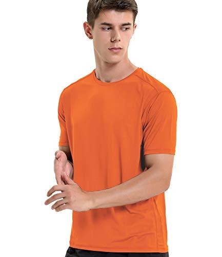 Sport-T-Shirt für Herren, schnelltrocknend, kurzärmelig Gr. L, Orange