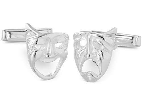 BROOKER Gemelos Máscara de Carnaval Plata