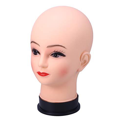 Lurrose 1 Pc Mannequin Tête Lifelike Utilitaire Durable Tête Portative Modèle pour Exposition De Cheveux Styling Chapeau Coiffure Chapeaux