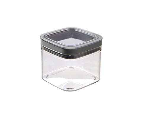 CURVER Dry Cube Vorratsdose quadratisch - 0,8Lt - 12X12X10H transparent/Grau