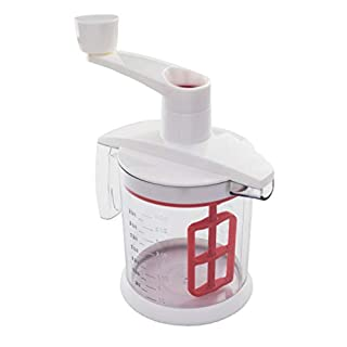 Tovolo Quick Mix Hand Beater Blender, Mess-Free Pour, Baking Tool with Non-Slip Base & Comfortable Handle, Easy Batter Mixer, Fade-Resistant Etched Measurements, White/Red (B01MR52SON) | Amazon price tracker / tracking, Amazon price history charts, Amazon price watches, Amazon price drop alerts