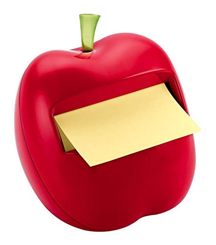 Post-it Pop-up Notes Dispenser, Apple-Shaped Dispenser and Post-it Super Sticky Pop-up Notes, 3x3 in, 1 Pad Pack (APL-330)