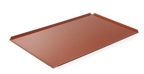 HENDI Backblech mit Teflon™ Antihaft Beschichtung, lochbackblech, lochblech, Temperaturbeständig bis 250°C, mit 4 Aufkantungen, GN 1/1, 530x325x(H)10mm, Aluminium