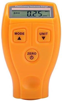 Medidor de espesor de revestimiento - Mini probador de pintura de coche LCD portátil Detector digital de ahorro de energía Medidor ambiental(Amarillo)