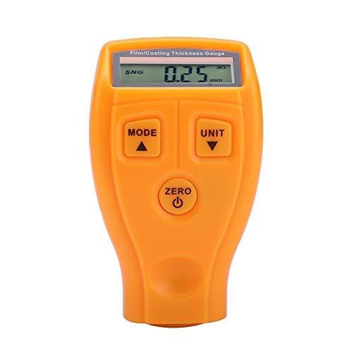 Misuratore di spessore del rivestimento - Mini tester portatile per vernici per auto LCD Rilevatore digitale a risparmio energetico che misura misuratore ambientale(Giallo)