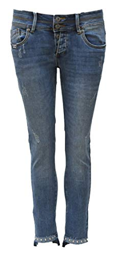 Blue Monkey Jeans, Mary, BM-10520,Cropped, Hem Detail (W29/L27)