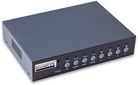 InstallerCCTV Video Quad Color 4CH Multiplexer 2 BNC Output with Remote Control and Free 1Amp product image