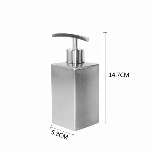 zj Dispenser di Sapone Xgmsd per Dispenser di Sapone Liquido in Acciaio per Cucine e Bagni, 304 Inox, 358 Ml,A,Taglia Unica
