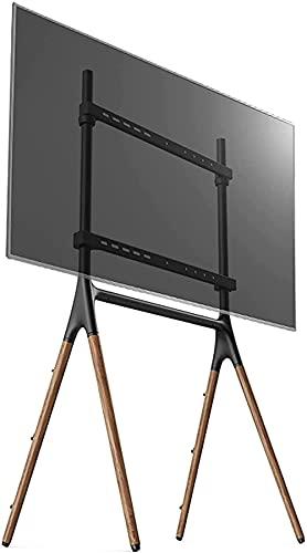 Soporte de Suelo para TV Soporte de Arte de Madera Creativo Soporte de TV móvil con Cuerda de Seguridad Soporte de Montaje de TV Ajustable (Tamaño: L)