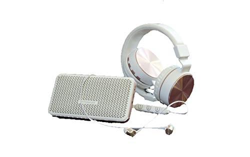 Polaroid - Kit de audio inalámbrico con auriculares Bluetooth, altavoz Bluetooth...