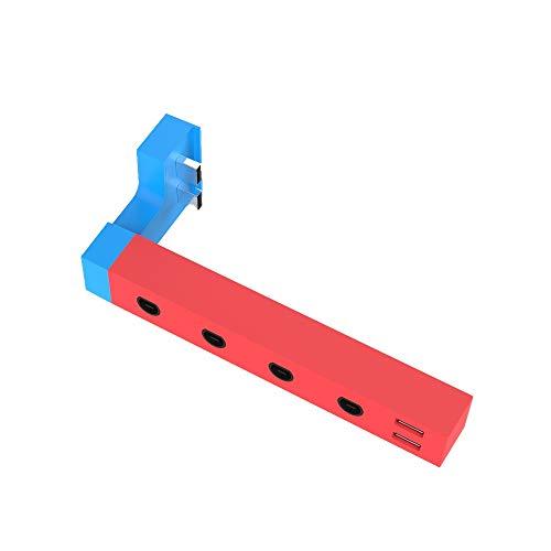 JOYTORN Adapter for Gamecube Controller,Super Smash Bros Ultimate Adapter for Nintendo Switch,4 Port,Red/Blue