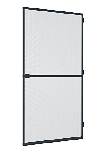 Windhager Insektenschutz Spannrahmen-Tür Plus, Fliegengitter Alurahmen für Türen, individuell kürzbar, 100 x 210 cm, anthrazit, 03709