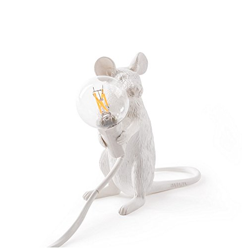 Pumpink Vintage Résine Seletti Souris Bureau Lumières Industriel Mini Rétro Animal Art Souris Table Lampe Chambre Café Bar Décorer Rat Table Éclairage (Size : Sit)