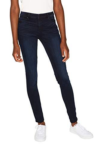 ESPRIT Damen 999Ee1B802 Skinny Jeans, Blau (Blue Dark Wash 901), W28/L30 (Herstellergröße: 28/30)