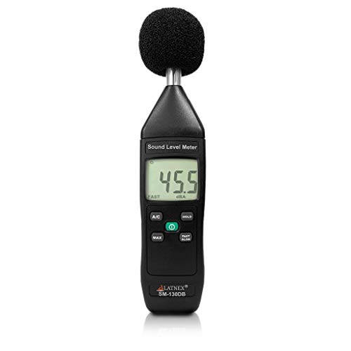SM-130DB Digital Decibel Reader and Sound Level Meter Type 2 with Calibration Certificate. Measurement Device for Environmental and Mechanical Noise Monitor - Manufacturing, Office, Classroom