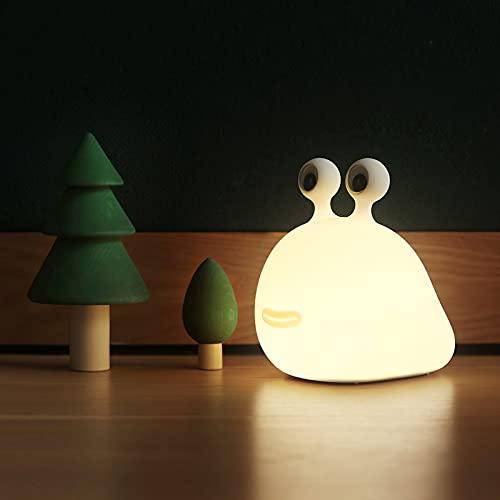 Phonleya Luz de noche LED para niños, lámpara de noche para guardería, lámpara de noche con interruptor táctil, luz de noche de silicona táctil recargable por USB, para habitación de bebé, dormitorio