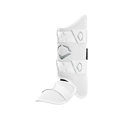 EvoShield PRO-SRZ Batter's Leg Guard, White - Left-Handed Hitter