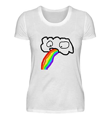 double critical Lustige kotzende Wolke - Regenbogen JGA Junggesellenabschied Gay Pride CSD - Damenshirt
