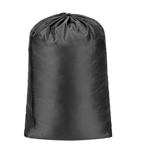 Meowoo Wäschesack Wäschebeutel Reise Groß Faltbarer Kordelzug Aufbewahrungstasche Schmutzige Kleidertasche, Maximal 10kg und 120L(Schwarz)
