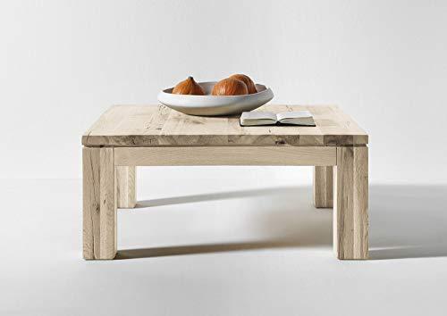Sit Möbel Couchtisch 90 x 90 cm, Samson, Balkeneiche, White Wash, Plattenstärke 30 mm, Zarge 70 mm