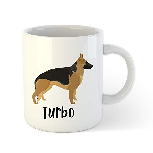 DKISEE Personalized German Shepherd Dog Mug, Pet Mug, Cute Mug, Dog Lover Gift, 15 Ounce Ceramic Coffee Mug Tea Cup