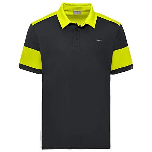 Head Polo Ace para Hombre, Hombre, Polo, 811230bkywxl, Negro/Amarillo, XL