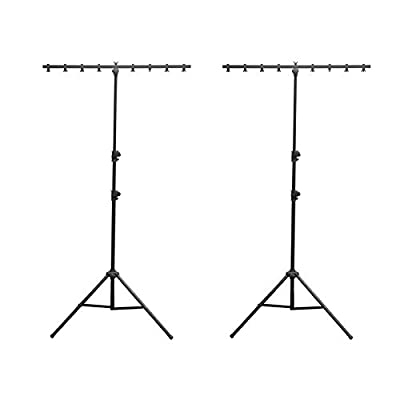 2) Chauvet DJ CH-06 Portable Lightweight Easy Setup T Bar Tripod Light Stands from Chauvet