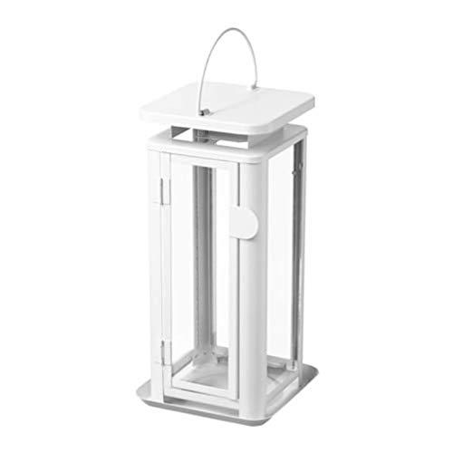 Ikea Sinnesro - Farol para Vela de Interior y Exterior, Color Blanco 203.346.82, tamaño 11 ½'