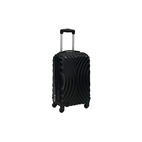 Totò Piccinni Set Valigie Trolley Ibiza con guscio rigido di ottima qualità con 4 rotelle pivotanti (Nero, S, 55x35x22)
