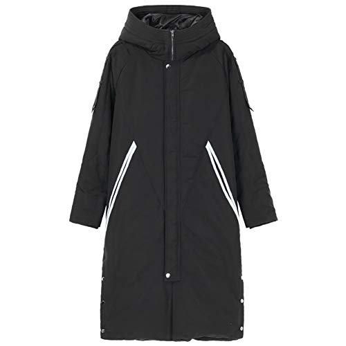 Donsjas, heren halflange jas met capuchon, ergonomische driedimensionale snit, gestructureerd en stijlvol, rechtop en capabel Retro X-Large Kleur