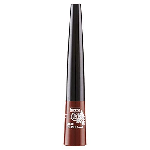 lavera eyeliner liquide - Liquid Eyeliner - Brown 02 - trait précis - vegan - Cosmétiques naturels - Make up - Ingrédients végétaux bio - 100% Naturel Maquillage (3,5 ml)