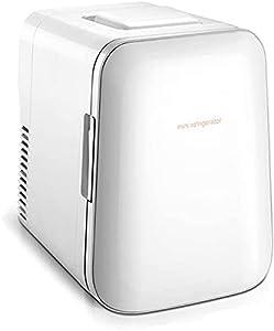 LZXH Réfrigérateur de Voiture beauté Mini réfrigérateur/réfrigérateur cosmétique Portable, Petit réfrigérateur Silencieux avec Panier de Rangement, pour Maquillage et Soins de la Peau, pour Bar d